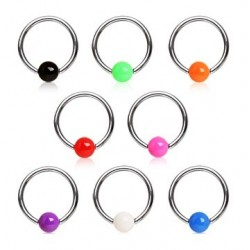 Surgical Steel Acrylic Ball Captive Bead Ring BCR