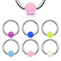 Surgical Steel Captive Bead Ring with UV Ball