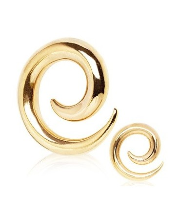 Gold Plated Spiral Ear Taper / Stretcher
