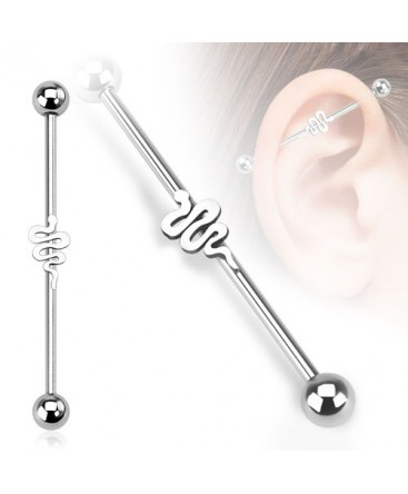 Surgical Steel Snake Scaffold / Industrial Barbell
