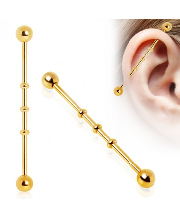 Gold Plated Bamboo Ridge Scaffold / Industrial Barbell