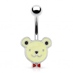 Surgical Steel Teddy Bear / Animal Head Belly / Navel Bar