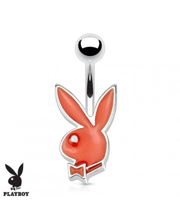 Surgical Steel Genuine Playboy Bunny Rabbit Petite Belly / Navel Bar