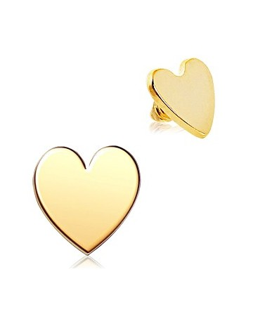 Gold Plated Love Heart Dermal Anchor Head