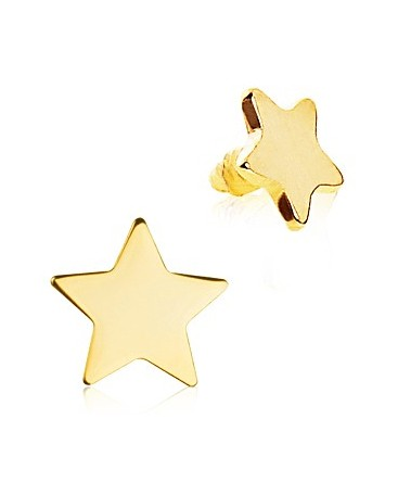 Gold Plated Star Dermal Anchor Head