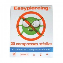 EasyPiercing® 20 x Hygienic Sterile Cleansing Swabs