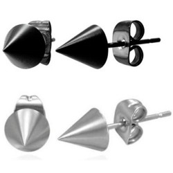Stainless Steel Spike / Cone / Punk Rock Stud Earrings