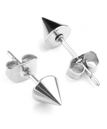 Stainless Steel Spike / Cone / Punk Rock Stud Earrings