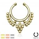 Clip-On / Fake Beaded Collar Hanger Septum Ring