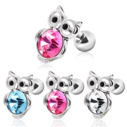 Surgical Steel Bird / Owl Tragus / Cartilage / Helix / Conch / Stud