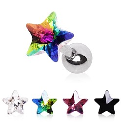 Surgical Steel Gem Star Prism Tragus / Cartilage / Helix / Conch / Stud
