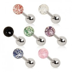 Surgical Steel Tragus / Cartilage / Helix / Conch / Stud with Glitter Ball