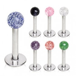 Surgical Steel Tragus / Labret / Cartilage / Helix / Conch / Stud with Glitter Ball