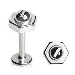 Surgical Steel Bolt / Nut / Screw Labret / Cartilage / Helix / Conch / Stud