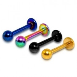 Anodised Titanium Tragus / Labret / Cartilage / Helix / Conch / Stud with Balls