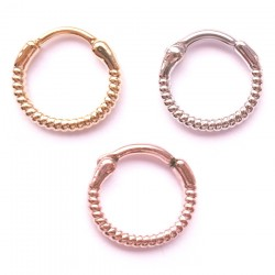 Surgical Steel Rope / Twist Septum Clicker