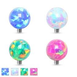 3mm Opal Ball Dermal Anchor