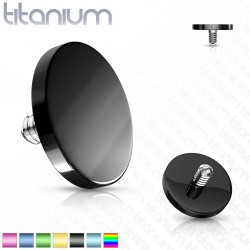 Titanium Plating Flat Round Disc Dermal Anchor