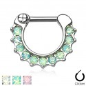 Surgical Steel Webbed Opal Septum Clicker
