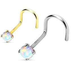 Anodised Titanium Plated Synthetic Opal Nose Hook