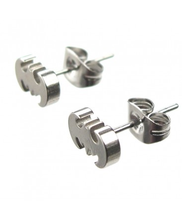 Stainless Steel Batman / Bat Logo Earring Studs